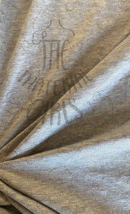 Heathered Grey Metallic Heart French Terry