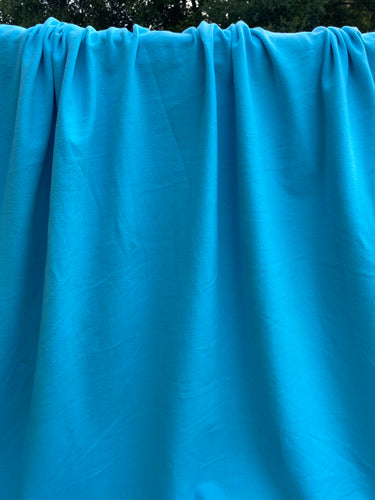 Baby Blue Cotton Spandex French Terry