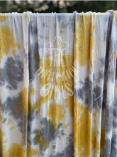 Load image into Gallery viewer, 2 yard cut Sunshine on a Cloudy Day Tie Dye Rayon Spandex