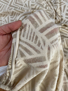 Oatmeal Ivory abstract lightweight French Terry