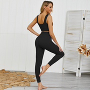 Vanta Black Luxe Seamless Sports Bra