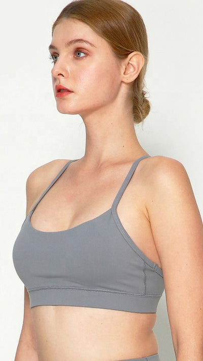 Cool Grey Pro Seamless Sports Bra