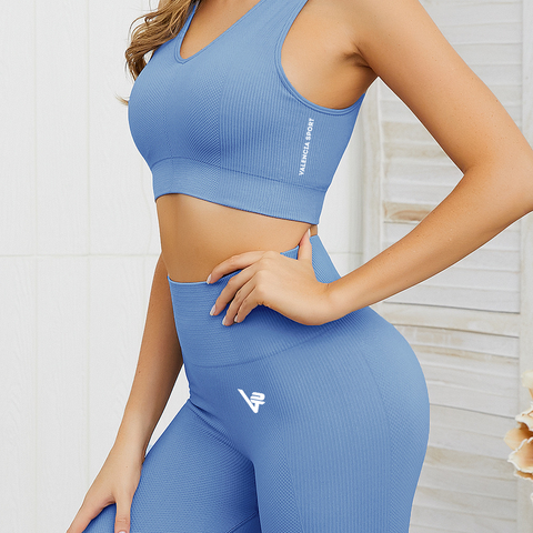 Ocean Blue Luxe Seamless Sports Bra