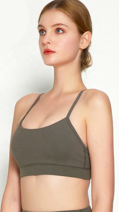 Olive Green Pro Seamless Sports Bra