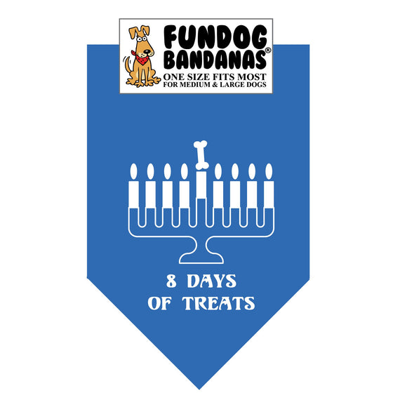 Wholesale 10 Pack - Chanukah 8 Days of Treats - Mirage Blue - FunDogBandanas