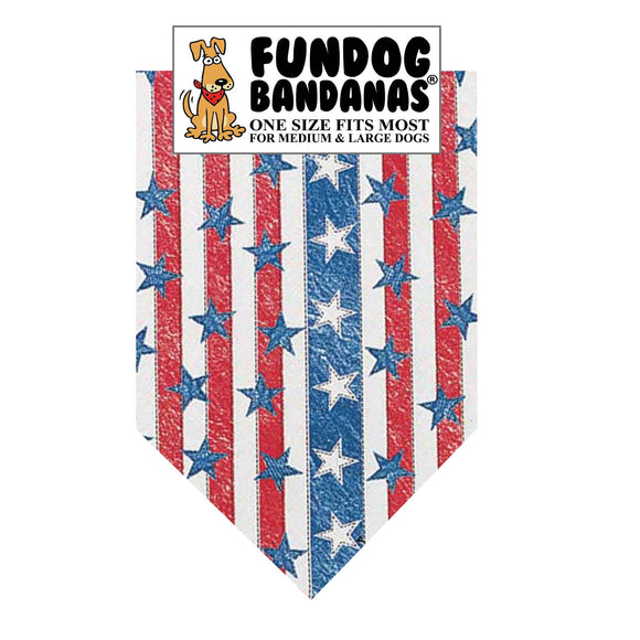 Wholesale 10 Pack - American Denim Bandana - FunDogBandanas