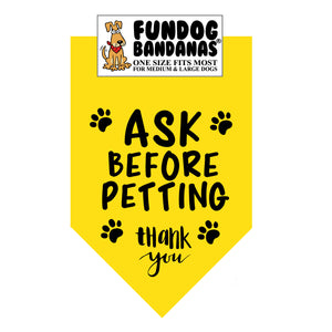 Ask Before Petting Bandana