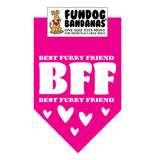 Wholesale 10 Pack - BFF (Best Furry Friend) Bandana - Assorted Colors
