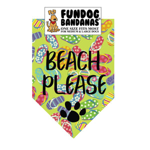 Beach Please Bandana - FunDogBandanas