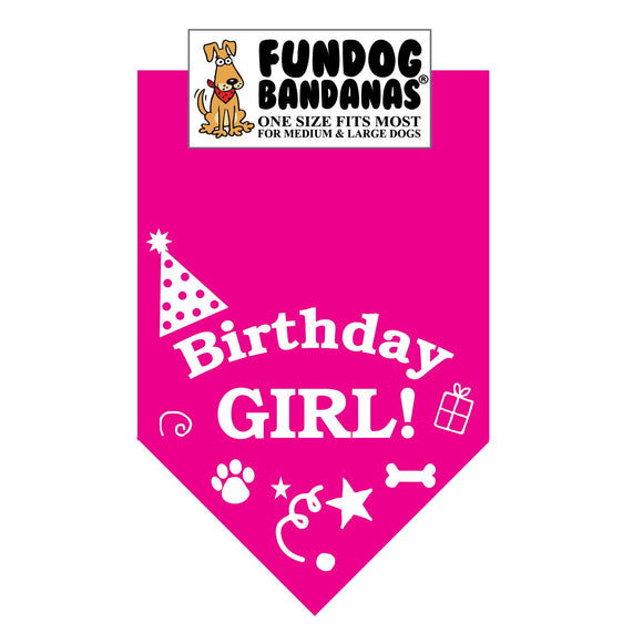 Birthday Girl Bandana - FunDogBandanas
