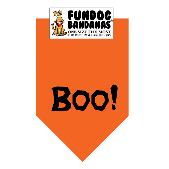 Wholesale 10 Pack - Boo! Bandana - Orange Only - FunDogBandanas