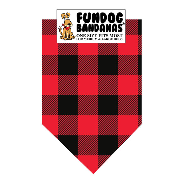 Buffalo Check 100% Cotton Bandana - FunDogBandanas