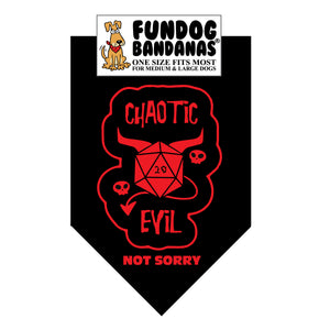 Wholesale 10 Pack - Chaotic Evil (Dungeons & Dragons) Bandana