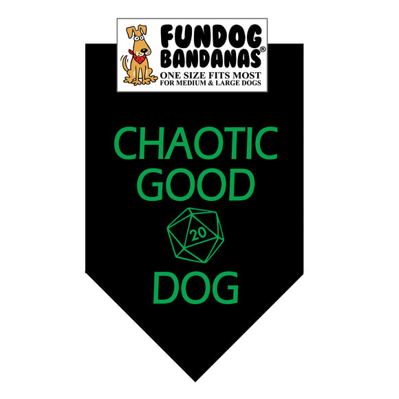Wholesale 10 Pack - Chaotic Good Dog (Dungeons & Dragons) Bandana