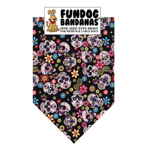 Day of the Dead Skulls Bandana