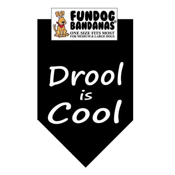 Wholesale 10 Pack - Drool Is Cool Bandana - Assorted Colors - FunDogBandanas
