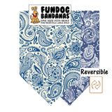 English Paisley Reversible Bandana - FunDogBandanas