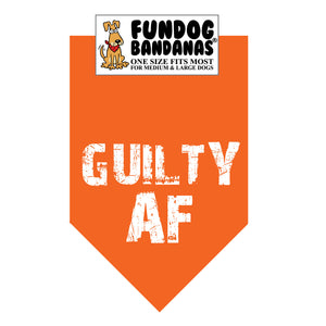 Wholesale 10 Pack - GUILTY AF Bandana (Assorted Colors)