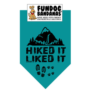 Wholesale 10 Pack - HIKED IT LIKED IT Bandana, Assorted Colors