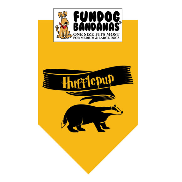 Wholesale 10 Pack - HP Hufflepup Bandana - Gold Only - FunDogBandanas