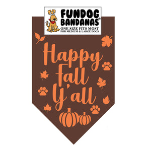 Wholesale 10 Pack - Happy Fall Y'all Bandana