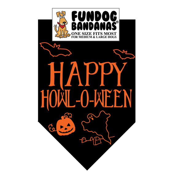 Happy HOWL-o-Ween Bandana