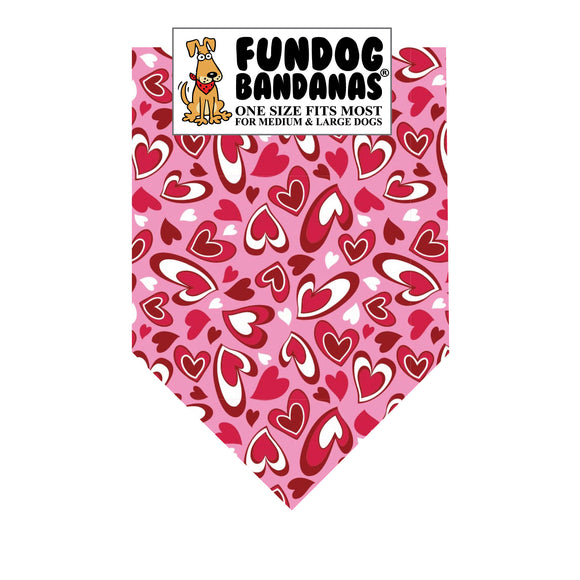 Wholesale 10 Pack - Heartfelt Hearts Bandana