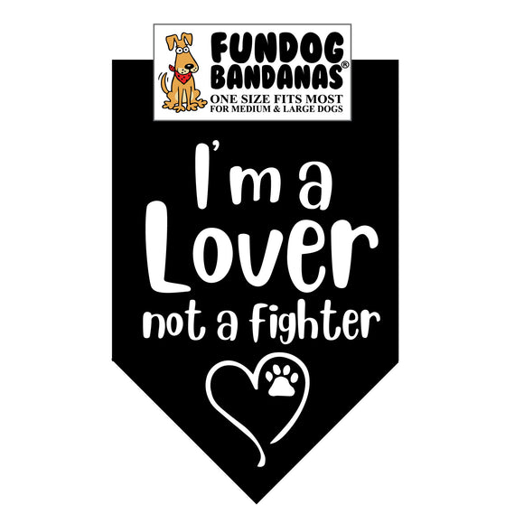 Wholesale 10 Pack - A Lover; Not a Fighter Bandana - Assorted Colors