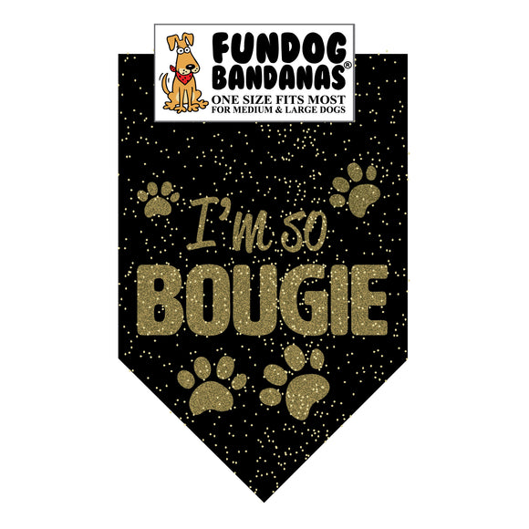 Wholesale 10 Pack - I'm So Bougie Glitter Bandana