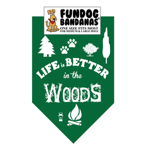 Wholesale 10 Pack - Life is Better in the Woods Bandana / Assorted Colors