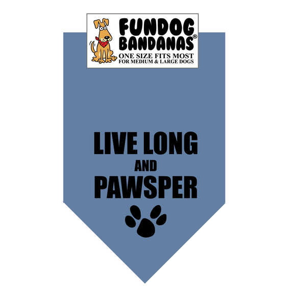 Wholesale 10 Pack - Live Long and Pawsper - Assorted Colors - FunDogBandanas