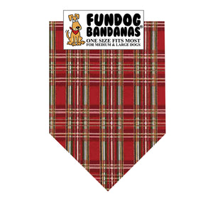Metallic Red Plaid Bandana
