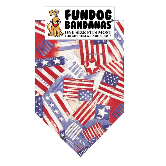 Old Glory Bandana - FunDogBandanas