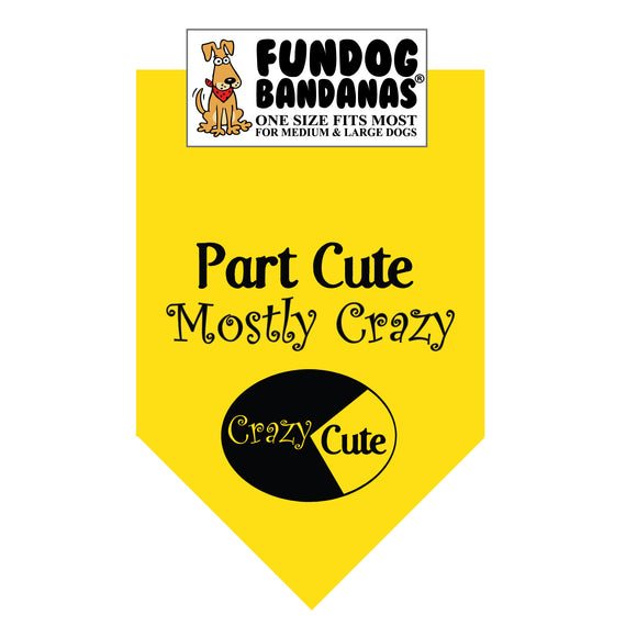 Wholesale 10 Pack - Part Cute Mostly Crazy Bandana