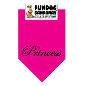 Wholesale 10 Pack - Princess Bandana - Hot Pink Only - FunDogBandanas