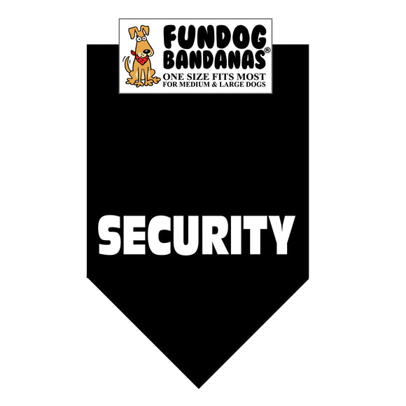 Wholesale 10 Pack - SECURITY Bandana - Black Only