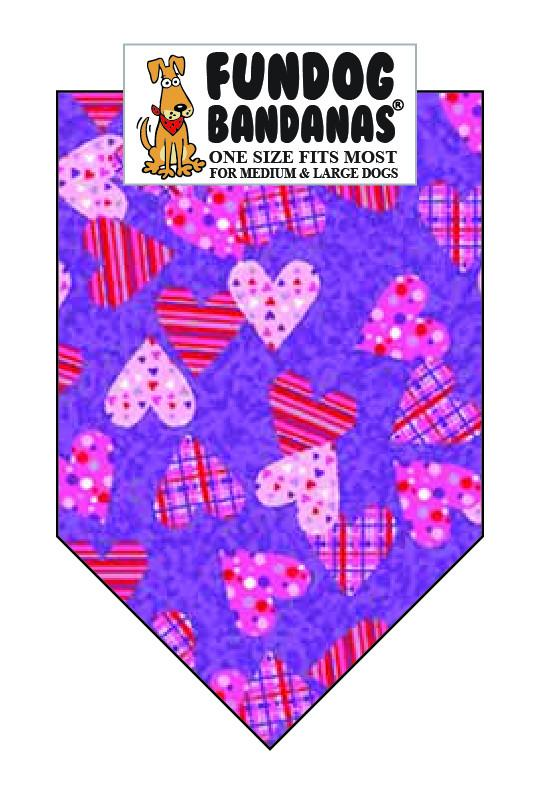 Wholesale 10 Pack - Plaid & Polka Hearts - FunDogBandanas