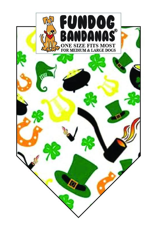 Wholesale 10 Pack - T0085 Bandana, Irish Icons - FunDogBandanas