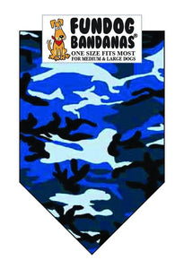 Wholesale 10 Pack - T0105 Bandana, Blue Camo - FunDogBandanas