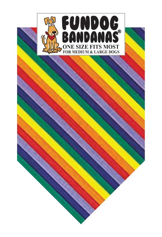Wholesale 10 Pack - T0110 Rainbow Stripes - FunDogBandanas
