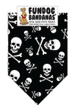 Skull and Crossbones Bandana - FunDogBandanas