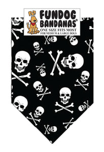 Wholesale 10 Pack - T0113 Skull and Crossbones - FunDogBandanas