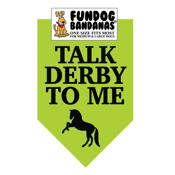 Talk Derby to Me Bandana