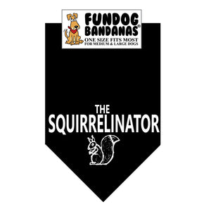 Wholesale 10 Pack - The Squirrelinator Bandana - Assorted Colors - FunDogBandanas