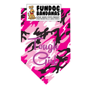 Wholesale 10 Pack - Tough Girl Bandana - Assorted Colors - FunDogBandanas