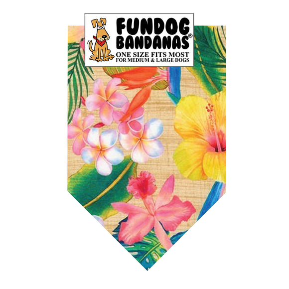Tropical Flowers Bandana