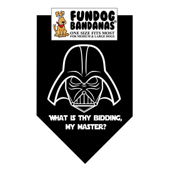 What is Thy Bidding My Master? Darth Vader Bandana (Star Wars)