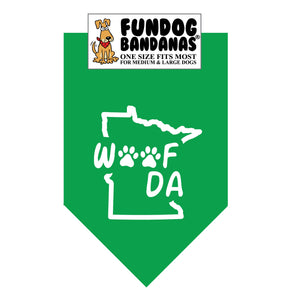 Wholesale 10 Pack - Woof Da Bandana - Assorted Colors - FunDogBandanas