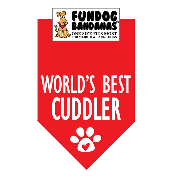 World's Best Cuddler Bandana - FunDogBandanas