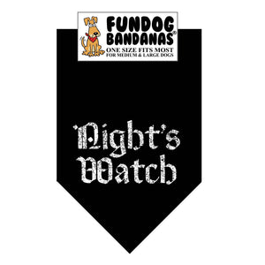 GT Night's Watch Bandana - FunDogBandanas